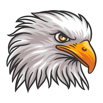 Grafische hoofd van een adelaar mascotte illustratie