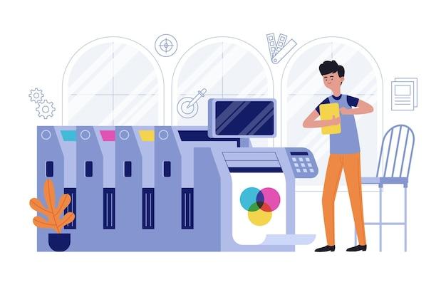 Grafische industrie illustratie