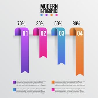Grafische informatiebalk voor moderne schoonheid