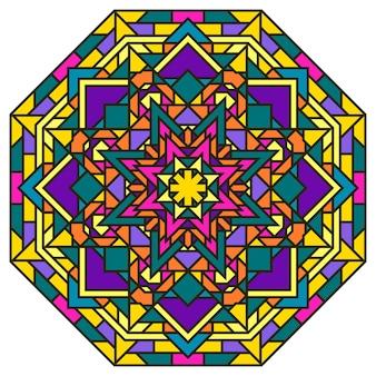 Grafische mandala-patroonachtergrond voor textielprint