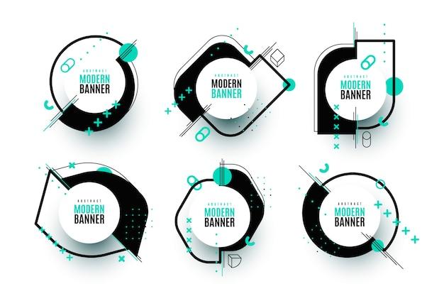 Grafische ontwerplabels in geometrische stijl