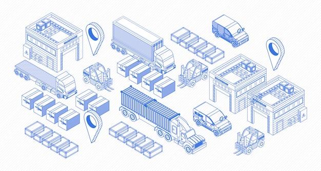 Grafische pictogrammen voor leveringsitems