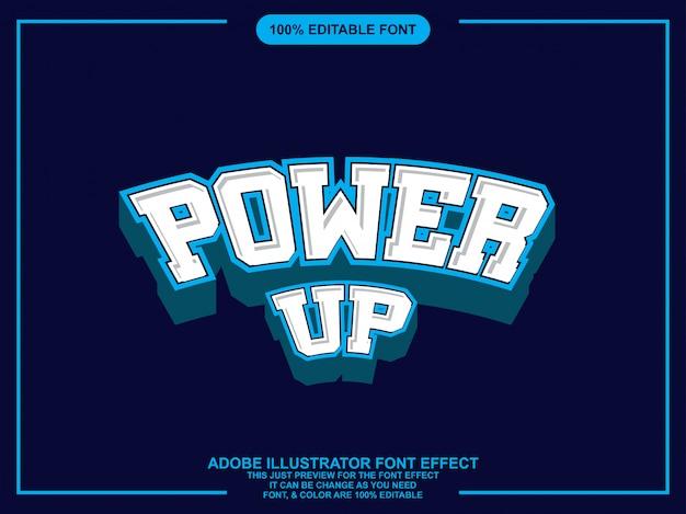 Grafische stijl illustrator bewerkbare typografie