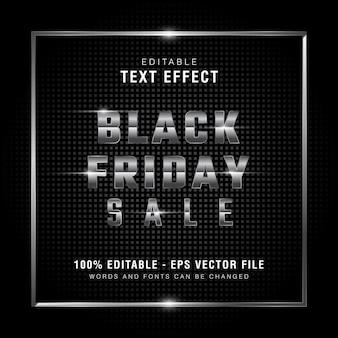 Grafische stijl zilveren zwarte vrijdag verkoop tekst
