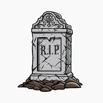 Grafsteen vector illustratie cartoon clipart