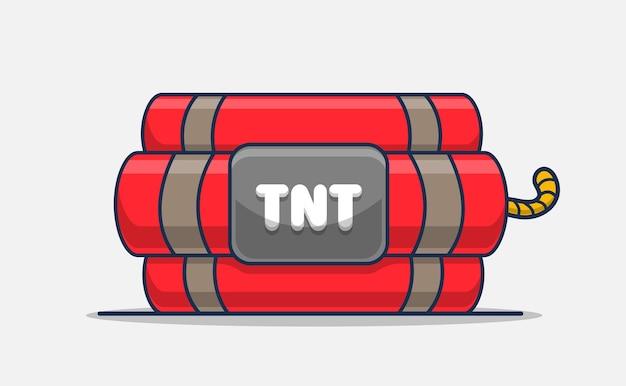 Granaat tnt pictogram illustratie