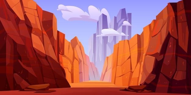 Grand canyon met weg op de bodem, park van arizona