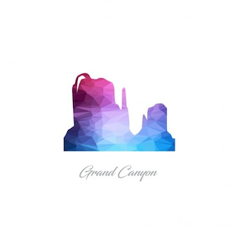 Grand canyon monument polygon logo