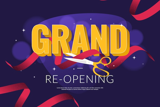 Grand heropening achtergrond concept