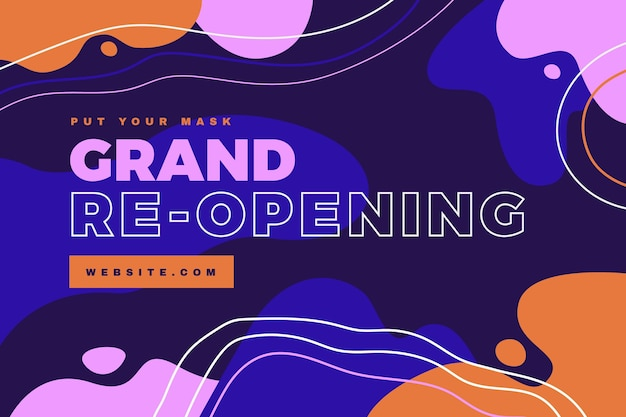Grand heropening achtergrond