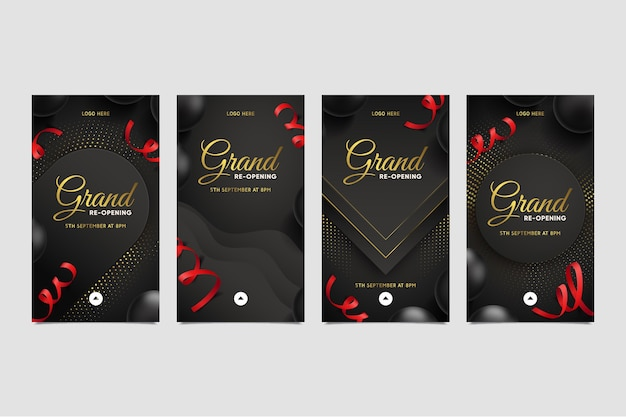 Grand heropening instagram verhalen concept