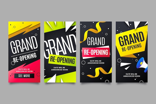 Grand heropening instagram verhalen