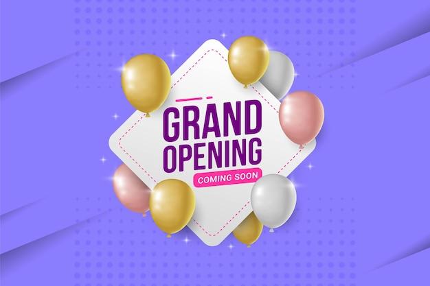 Grand opening aankondiging banner vectorillustratie