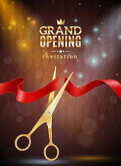Grand opening achtergrond afbeelding