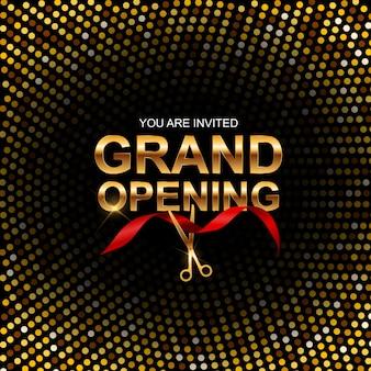 Grand opening banner uitnodiging