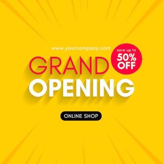 Grand opening binnenkort ontwerpsjabloon