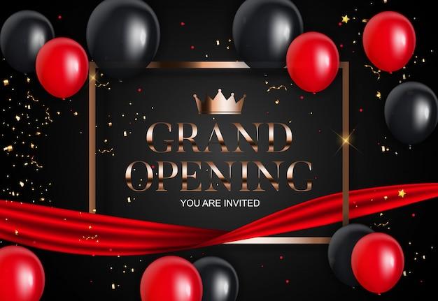 Grand opening card met lint