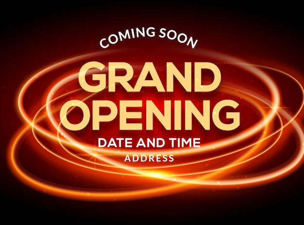 Grand opening ceremonie poster concept uitnodiging. feestelijke opening evenement decoratie partij sjabloon.