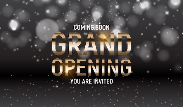 Grand opening concept.