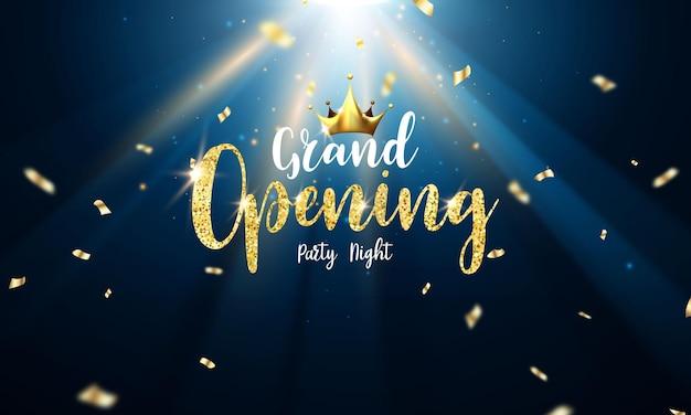 Grand opening evenement concept illustratie