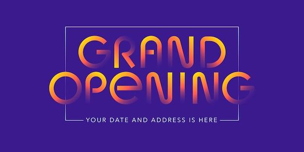 Grand opening illustratie