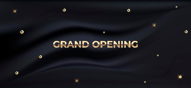 Grand opening luxe zijden banner