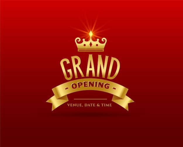 Grand opening premium gouden sjabloon