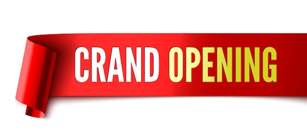 Grand opening rood lint