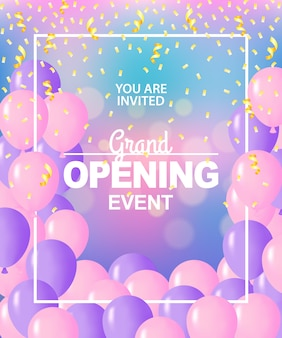 Grand opening sjabloon, banner, poster