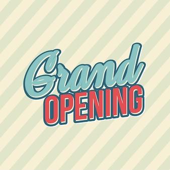 Grand opening square-tekst