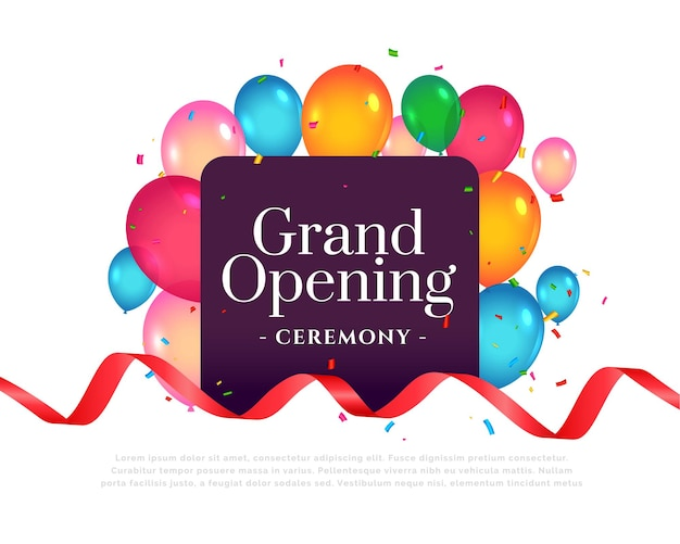 Grand opening uitnodiging ceremonie sjabloon