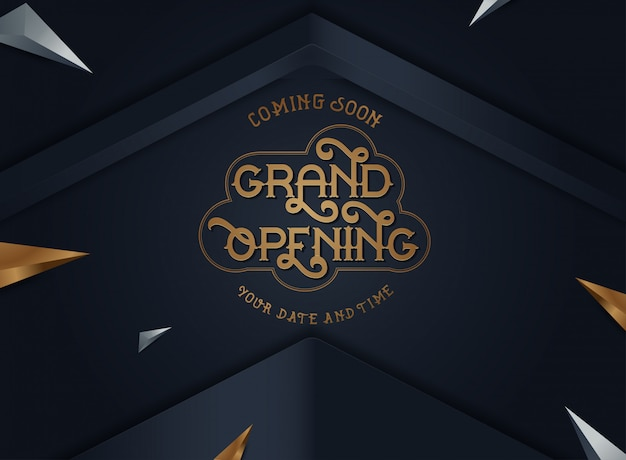 Grand opening vector banner