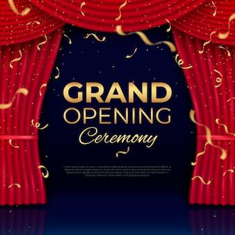 Grand openingsceremonie achtergrond