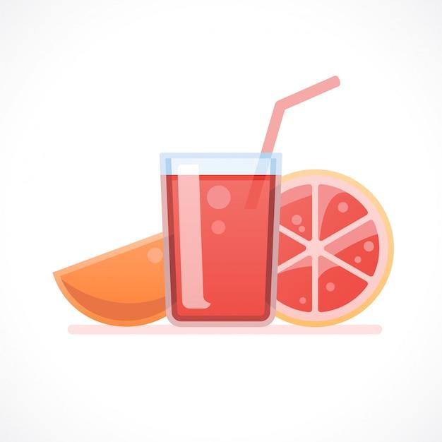 Grapefruit juice design logo