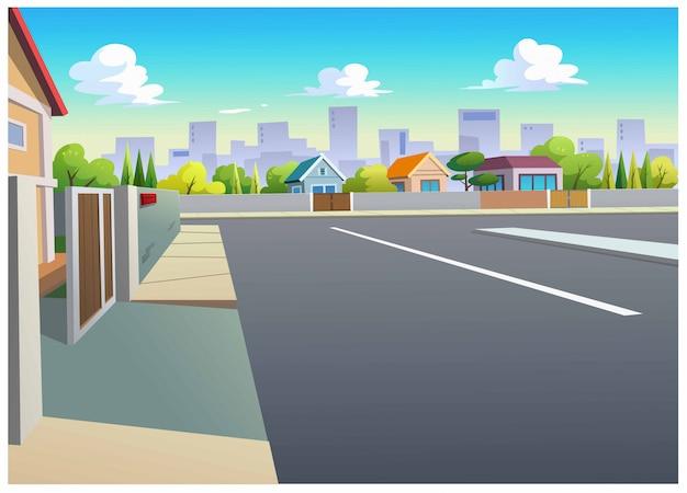 Graphics, dorpen en wegen overdag.