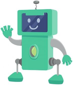 Grappig de fantasiekarakter van het robotbeeldverhaal