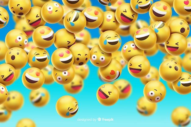 Grappig emoticonsontwerp als achtergrond