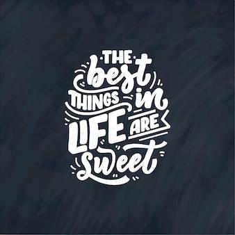 Grappig gezegde, inspirerend citaat voor café- of bakkerijprint