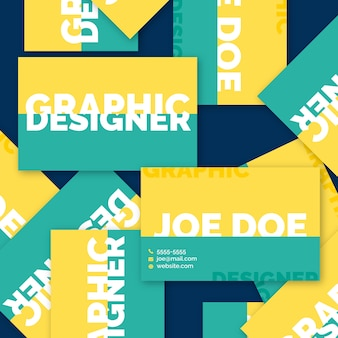 Grappig grafisch ontwerper visitekaartje concept