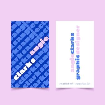 Grappig grafisch ontwerper visitekaartje sjabloon pack