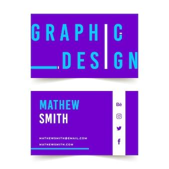 Grappig grafisch ontwerpervisitekaartje