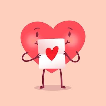 Grappig hart karakter