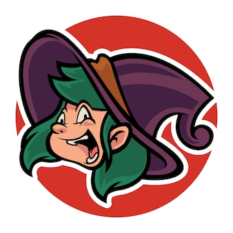 Grappig heksenhoofd