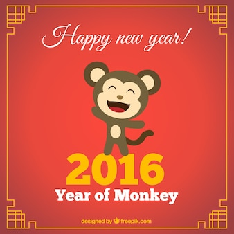 Grappig jaar van aap achtergrond