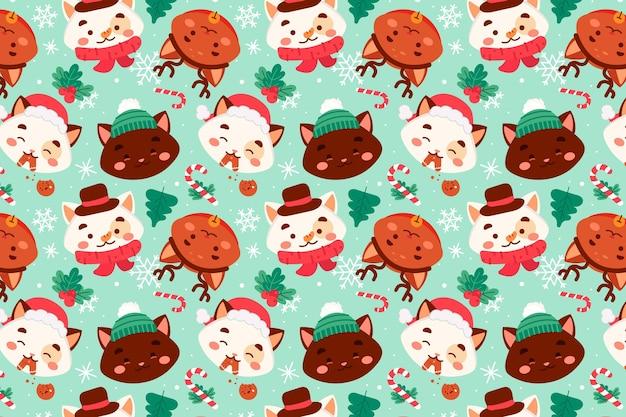 Grappig kerstpatroon