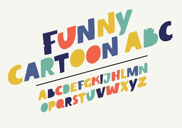 Grappig lettertype alfabet