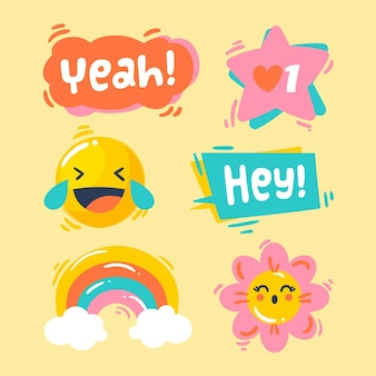 Grappig lol sticker pack concept