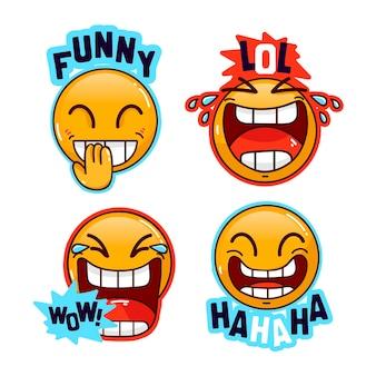 Grappig lol sticker pack ontwerp