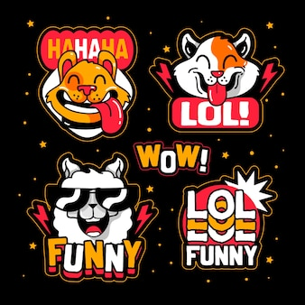 Grappig lol sticker pack thema