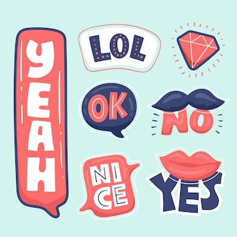 Grappig lol stickers concept